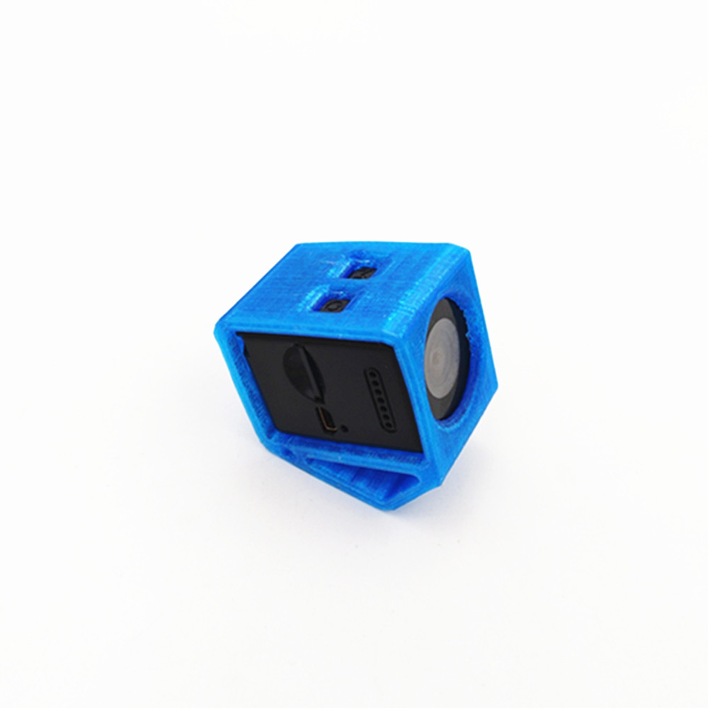 25*40*43.5mm 25 Degree TPU Protective Case for Hawkeye Firefly Micro Sport Camera Red/Blue/Orange
