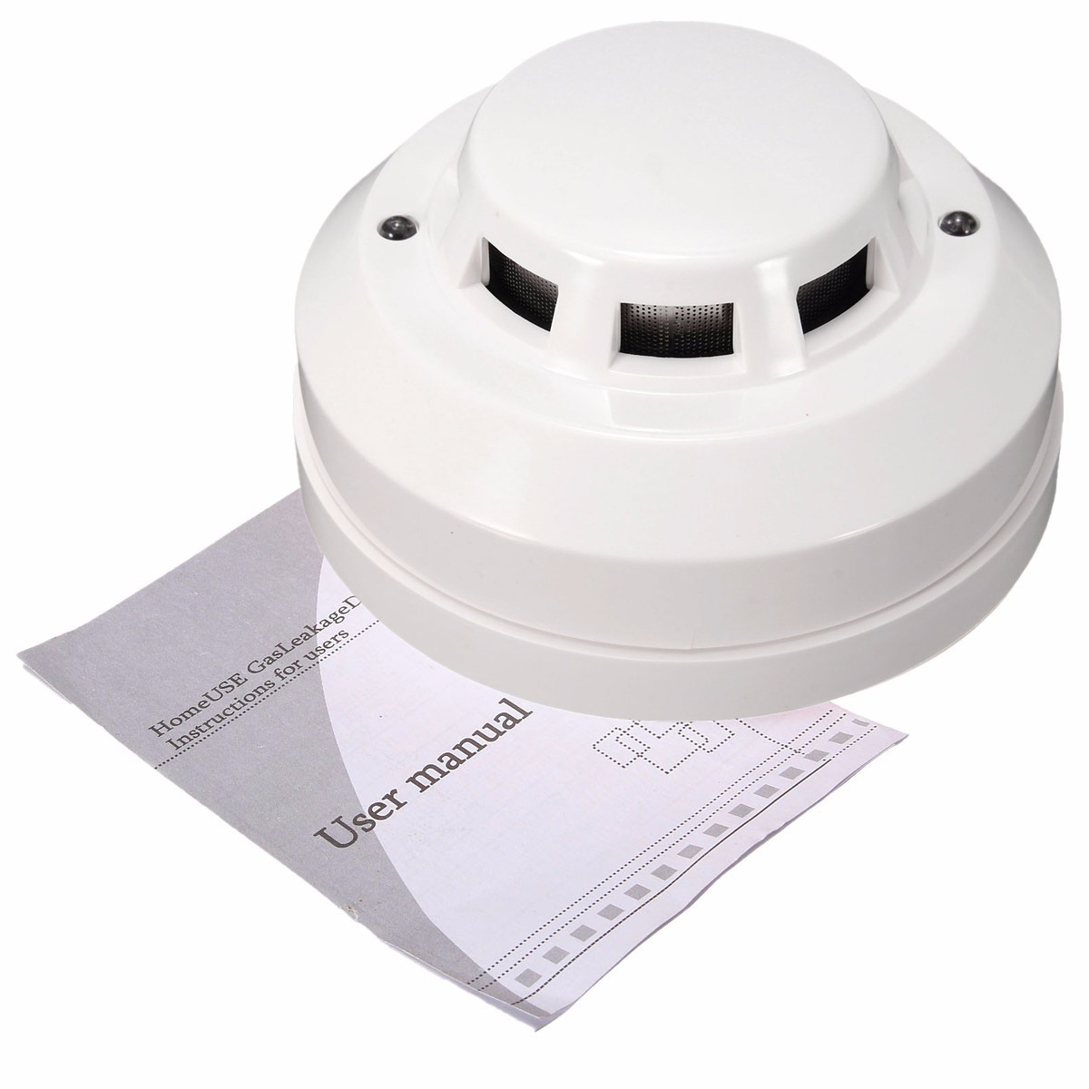 Wired Fire Smoke Coal Gas Sensor Detector Alarm Tester Home Security System