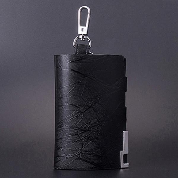Men Genuine Leather Car Key Holder Business Hook Hanging Key Case Coin Bags