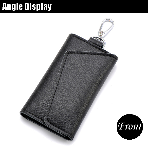 Unisex Genuine Leather Multifunctional Car Key Holder Card Holder
