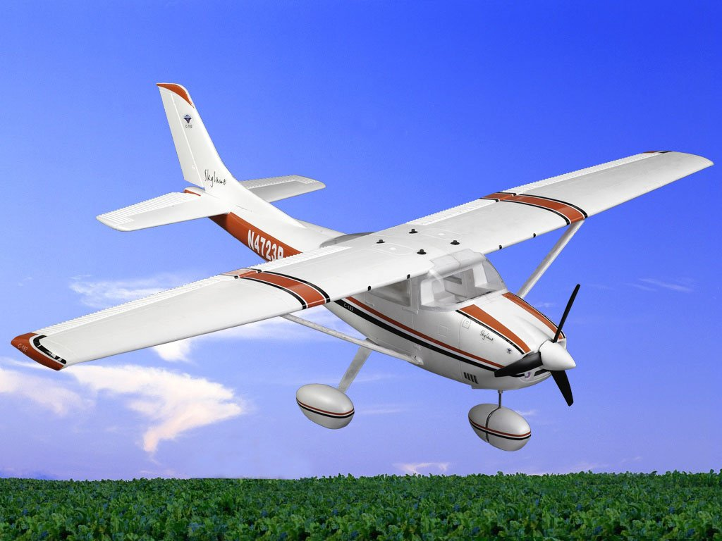 E-Do Model Cessna 182 ST 1500mm Wingspan EPO FPV Trainer RC Airplane PNP With LED Light Strap