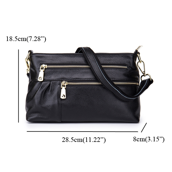 Women Genuine Leather Casual Shoulder Bag Evening Clutch Bag