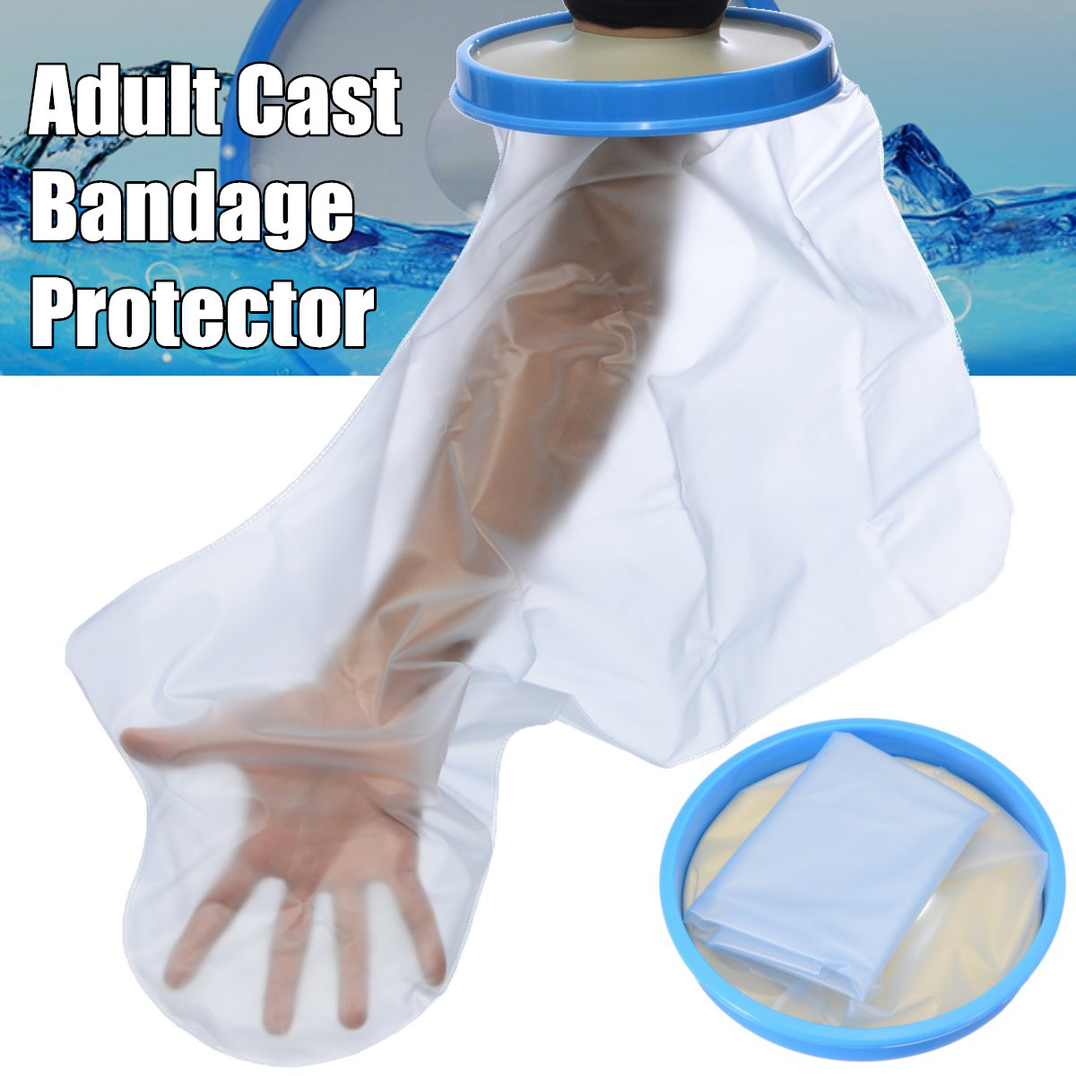 Waterproof Seal Cast Bandage Protector Cover Arm Hand Leg Knee Keep Dry for Shower Bath