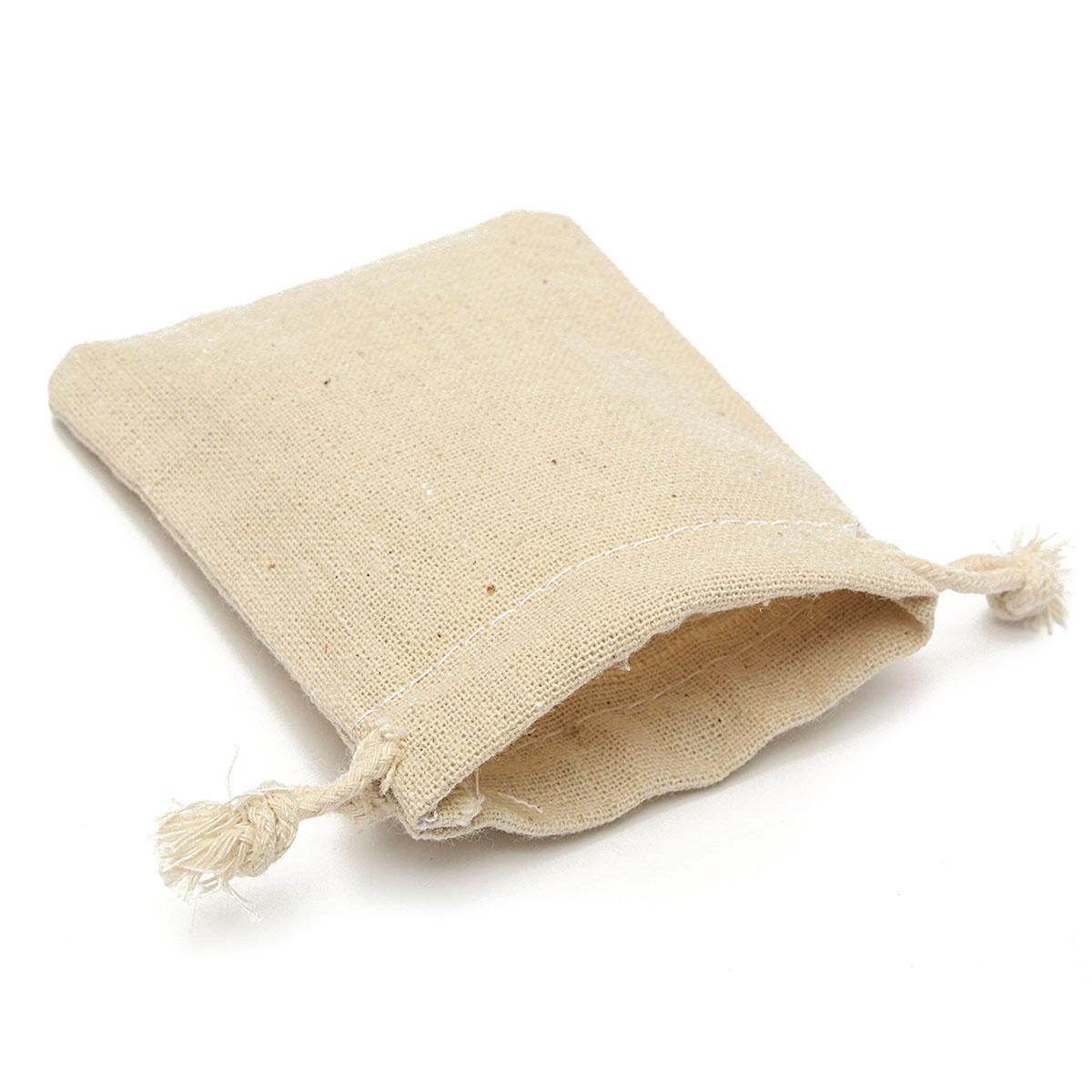30Pcs Natural Linen Pouch Burlap Jute Sack Jewelry Pouch Drawstring Gift Bags 8x10cm