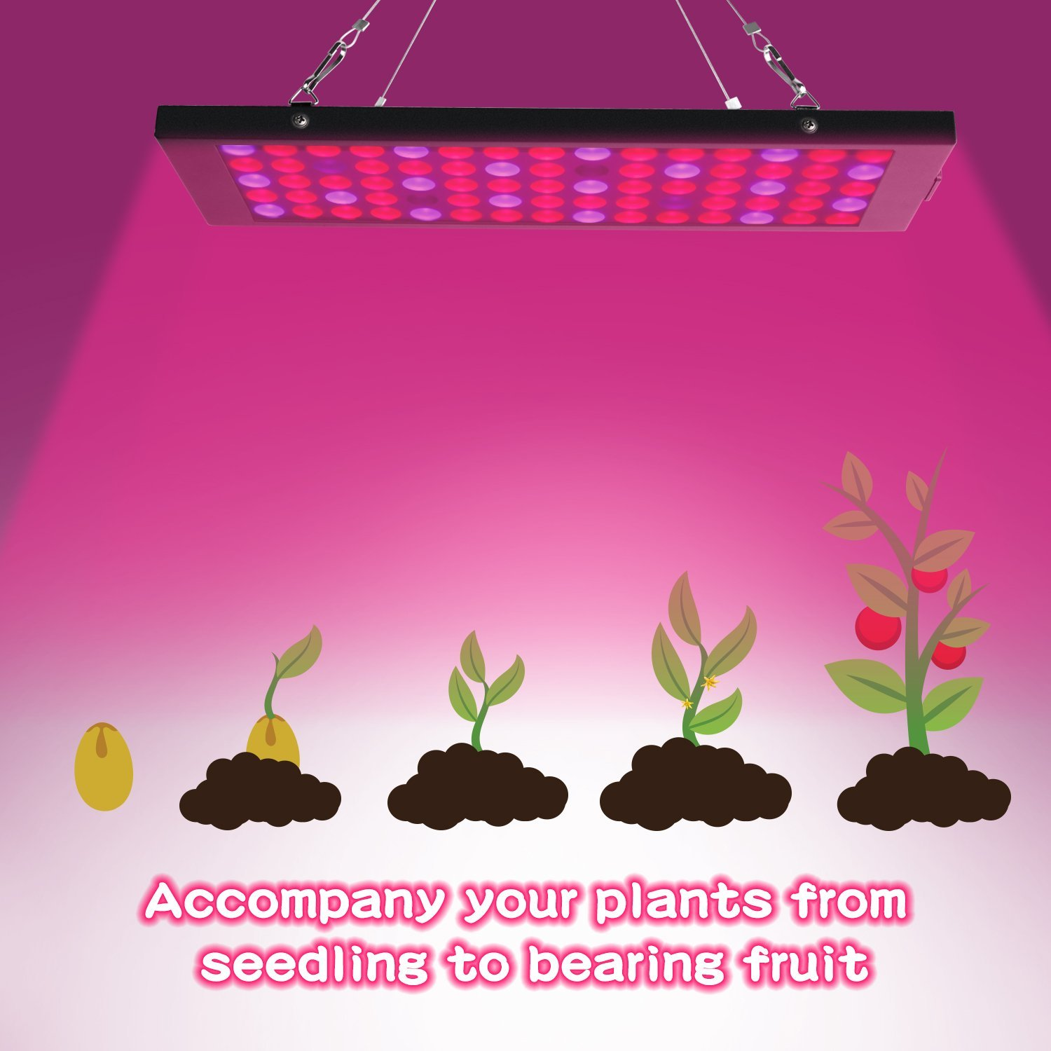Egrow GL-2 Garden Flowering Grow Light 40W LED Plants Anti-fog Growing Lamp with Red Blue UV & IR Spectrum