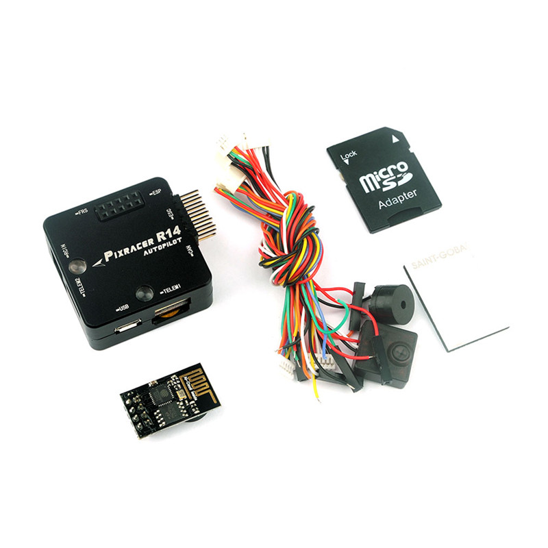 Pixracer R14 F4 Flight Controller With ESP8266 Wifi Module Micro SD Card Buzzer for RC FPV Racing Drone