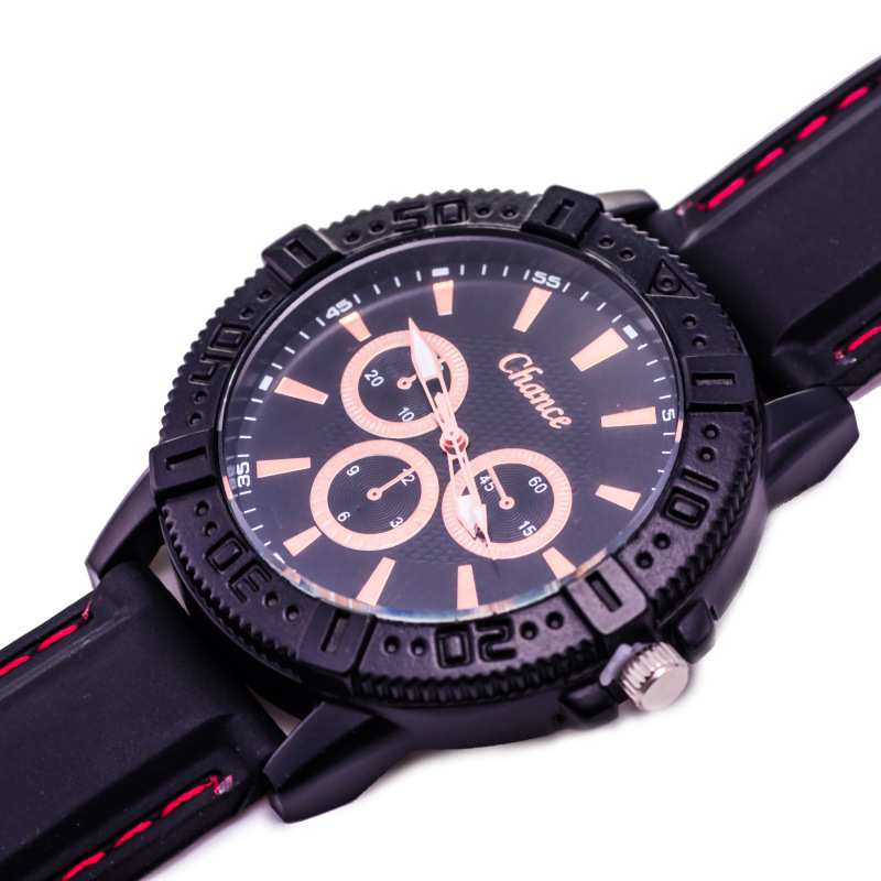Casual Men Silicone Band Analog Quartz Wrist Sport Watch