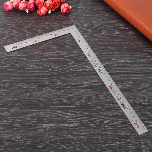 150 x 300mm Metric Square Ruler Stainless Steel 90 Degree Angle Corner Ruler