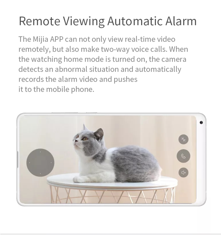 [International Version] Chuangmi Xiaobai H.265 1080P Smart Home IP Camera EU Plug 360° PTZ AI Detection WIFI Security Monitor from Xiaomi Eco-system