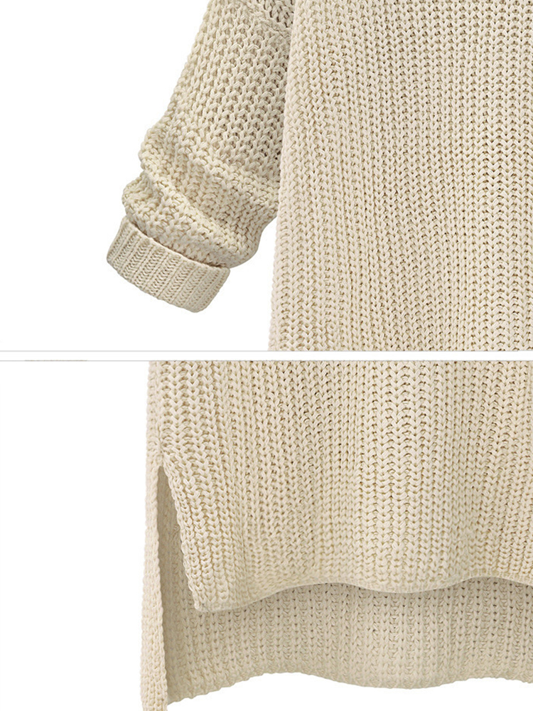 Casual Women Pure Color Sweaters
