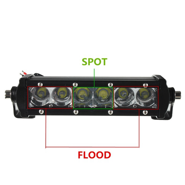 7.5Inch 30W LED Work Light Bar Combo Off Road SUV Jeep Car Driving Lamp