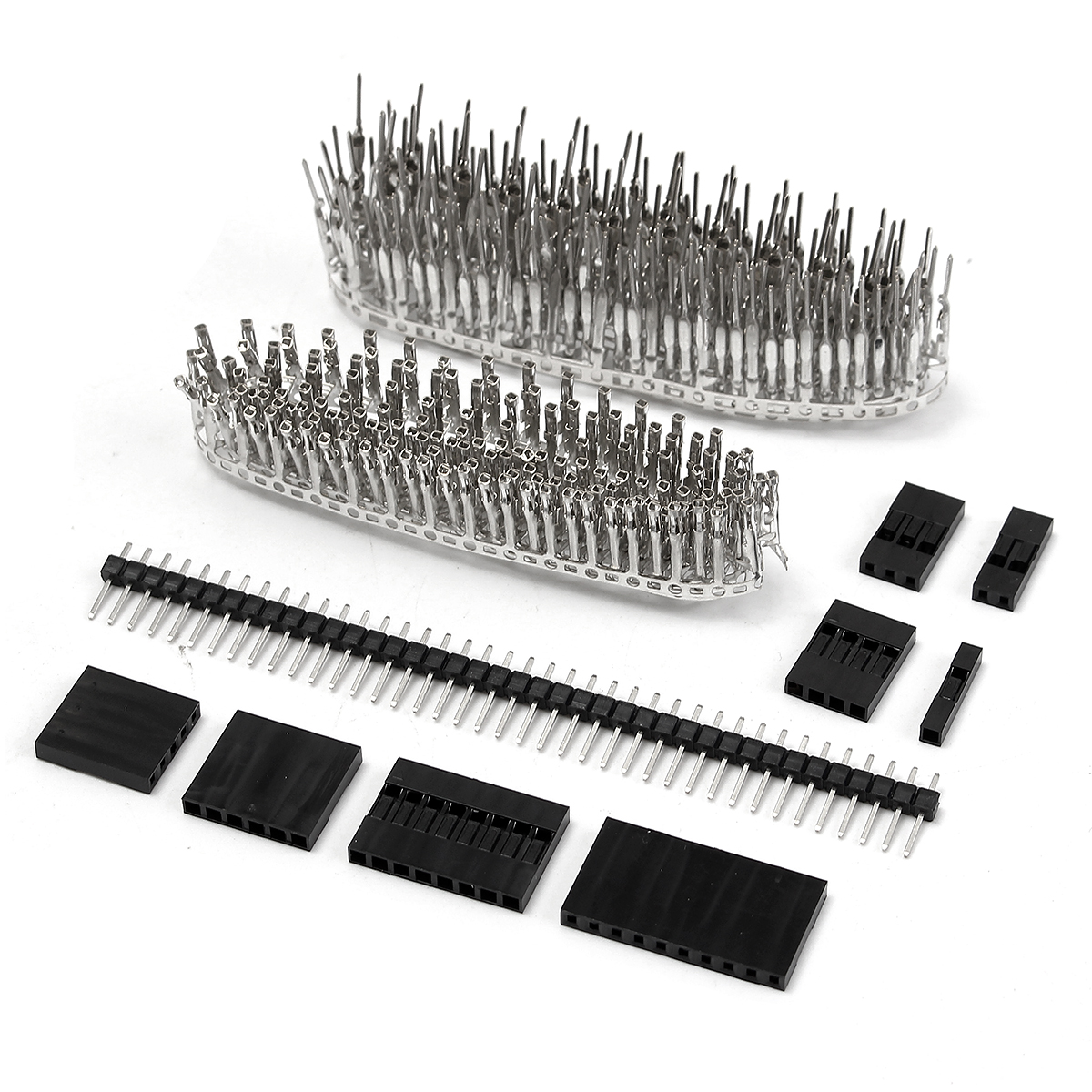 Geekcreit® 1450pcs 2.54mm Male Female Dupont Wire Jumper With Pin Header Connector Housing Kit