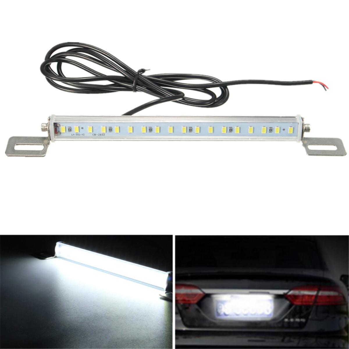 Universal Car 12V 18 SMD 5730 LED License Plate Reverse Back Up Light White