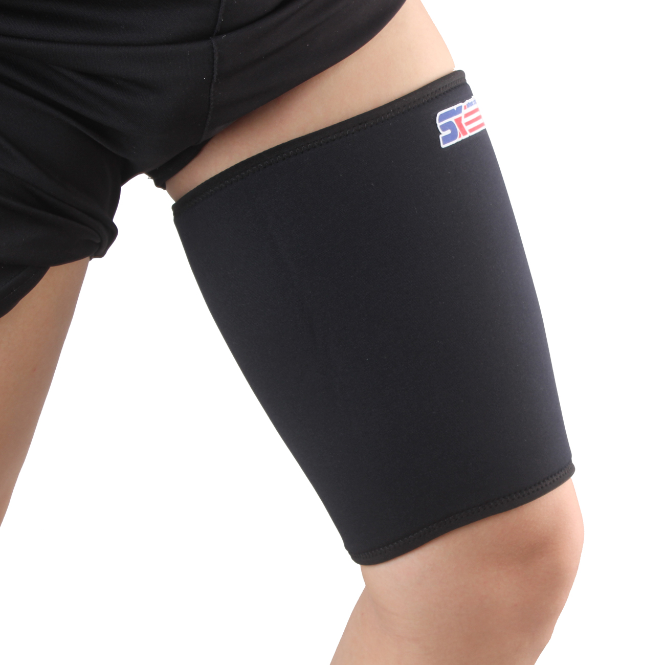 ShuoXin SX563 Sports Gym Fitness Elastic Stretchy Thigh Brace Support Wrap Band - 1PC