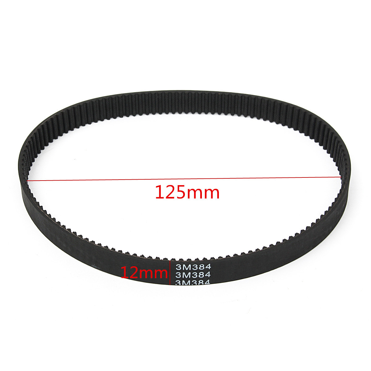 HTD384-3M-12 Rubber Drive Timing Belts Circle For Electric Scooter