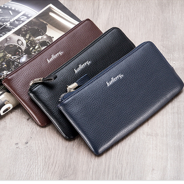Baellerry 6 Inces Cellphone Men Pu Leather Wallet