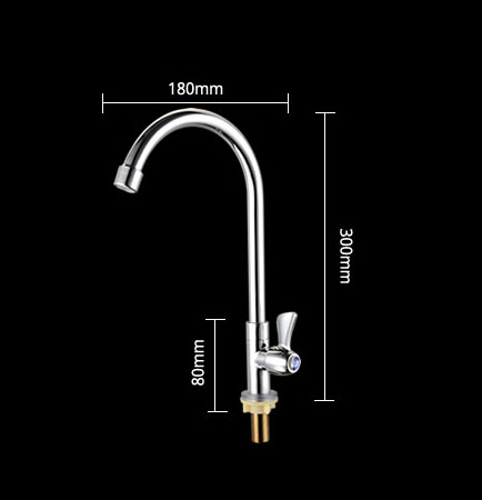 Basin Sink Single Hole Household Cold Basin Faucet Vertical Copper Universal Kitchen Dishwashing