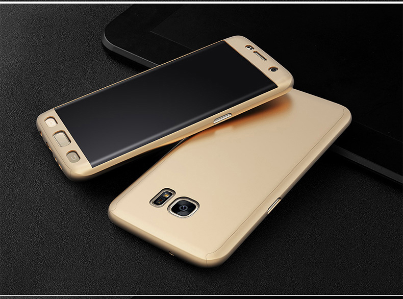 360° Full Body Soft HD Screen Protector+Hard PC Front+Back Case Cover For Samsung Galaxy S7 Edge