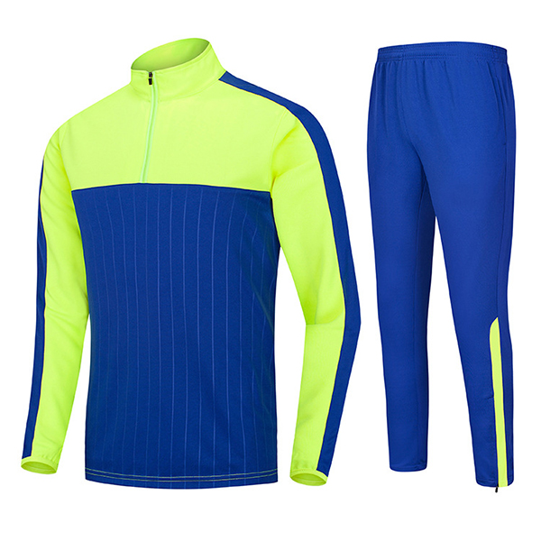 Outdoor sports Football Training Suit Casual Half Zipper Mens Long Sleeved Sportswears Suit
