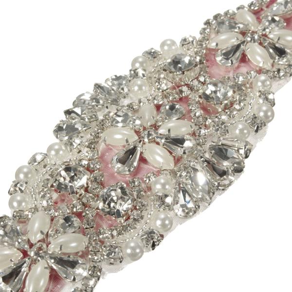 Bridal Vintage Crystal Sash-Rhinestone Diamond Ribbon Wedding Dress Belt