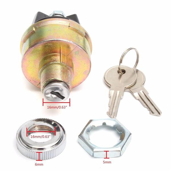 Universal Ignition Cylinder Switch Lock + 2 Keys KS6180 US14 UN148 CS7 UL3 S11