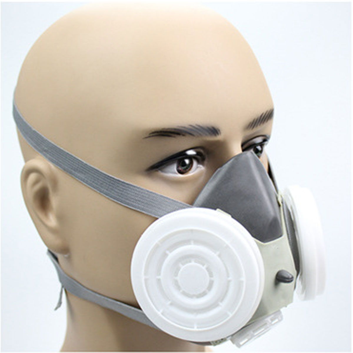 Anti Dust Respirator Gas Safety Half Face Mask Dual Filter Chemical Spray Painting Tool