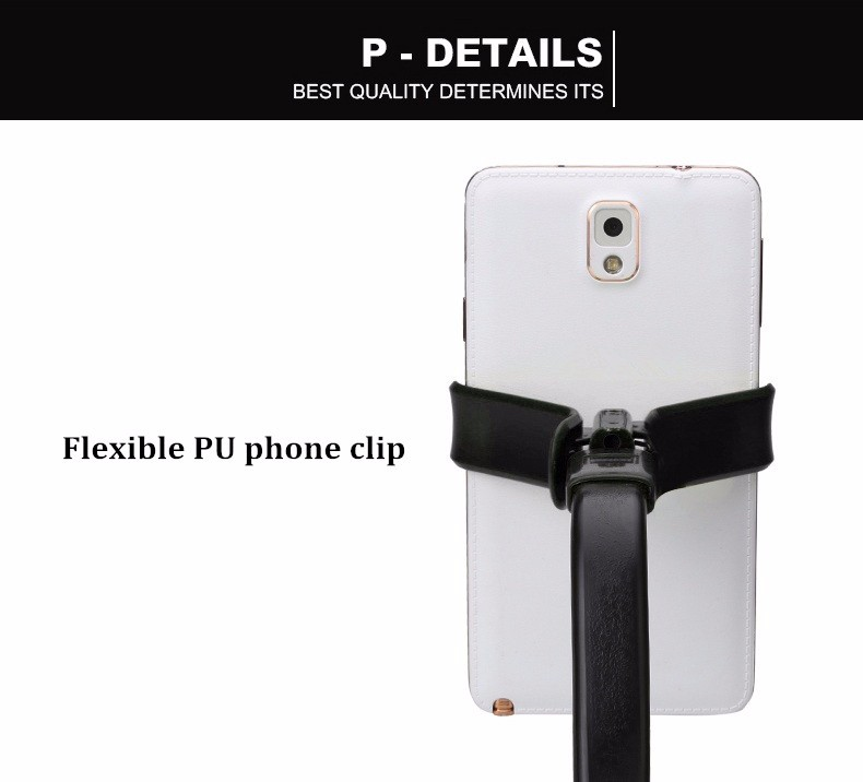 Universal 105CM 360 Degree Flexible Lazy Snake Flat Stand Holder Selfie Stick for Under 6 inch Smartphone