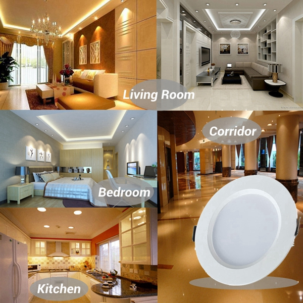 7W Round LED Recessed Ceiling Panel Down Light With Driver