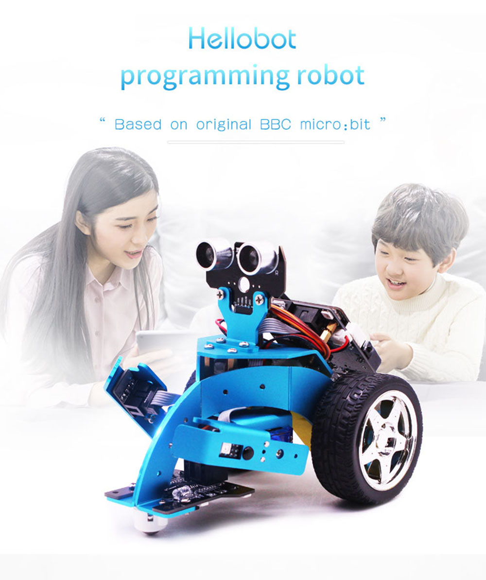 Hellobot DIY Programming Robot Microbit Educational Kits Arm Forklift Gripper Smart Robot Car