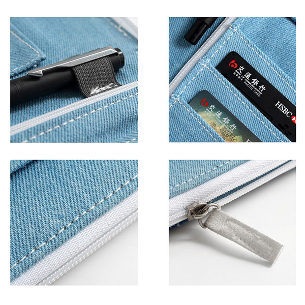 Simple Denim Bag Long Wallet Card Holder For Women