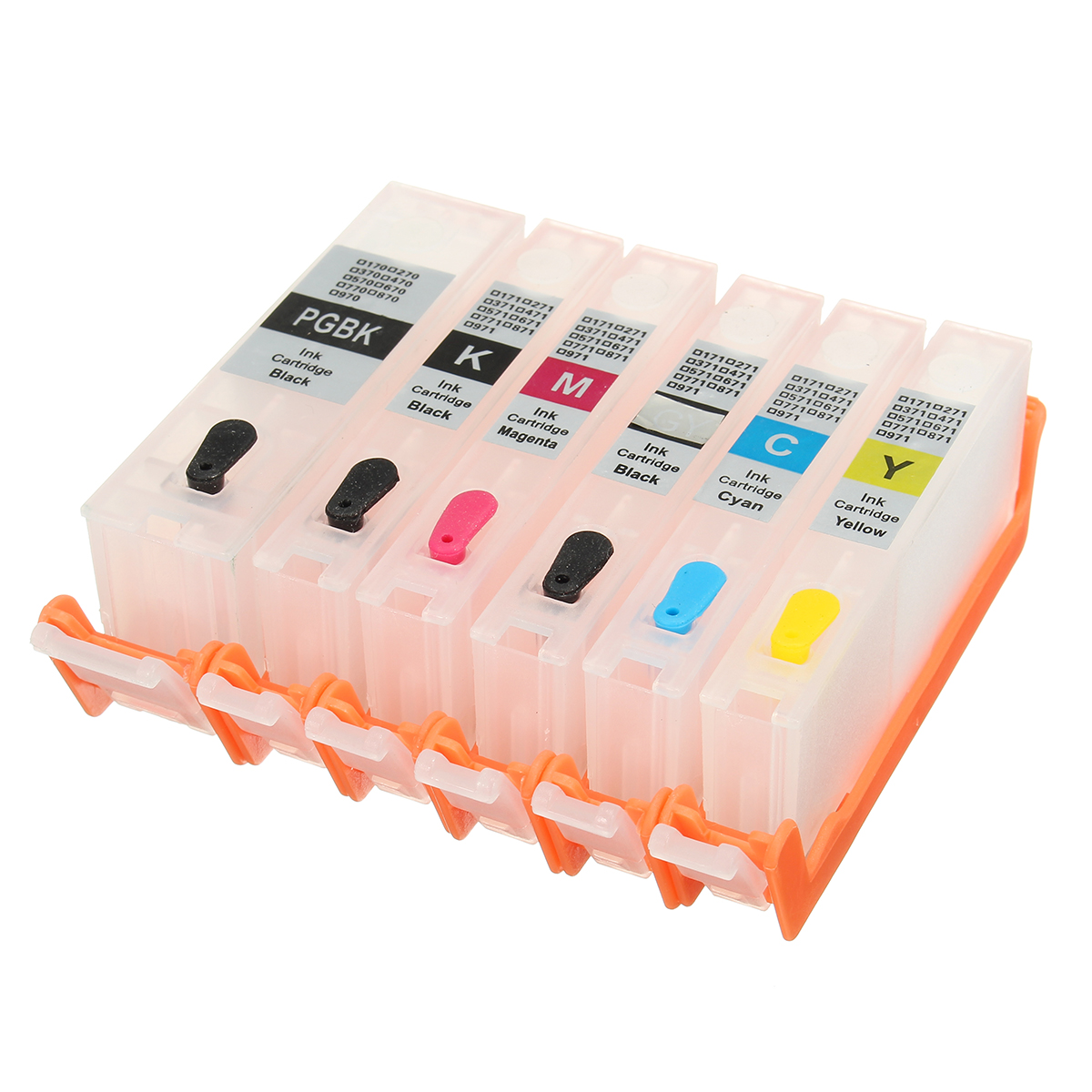 6pcs PGI-270 CLI-271 Refillable Ink Cartridge For MG7720 TS8020 TS9020