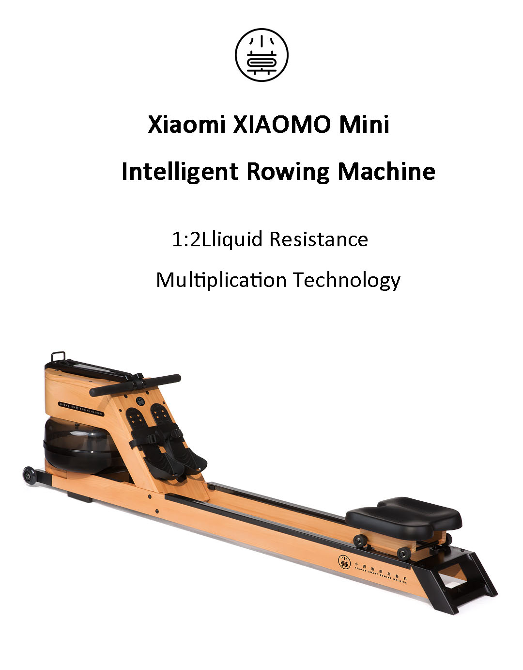 Xiaomi XIAOMO Mini Intelligent Rowing Machine Portable Outdoor Indoor Home Fitness Gym Arm Abdominal Muscle Trainer Boating Machine
