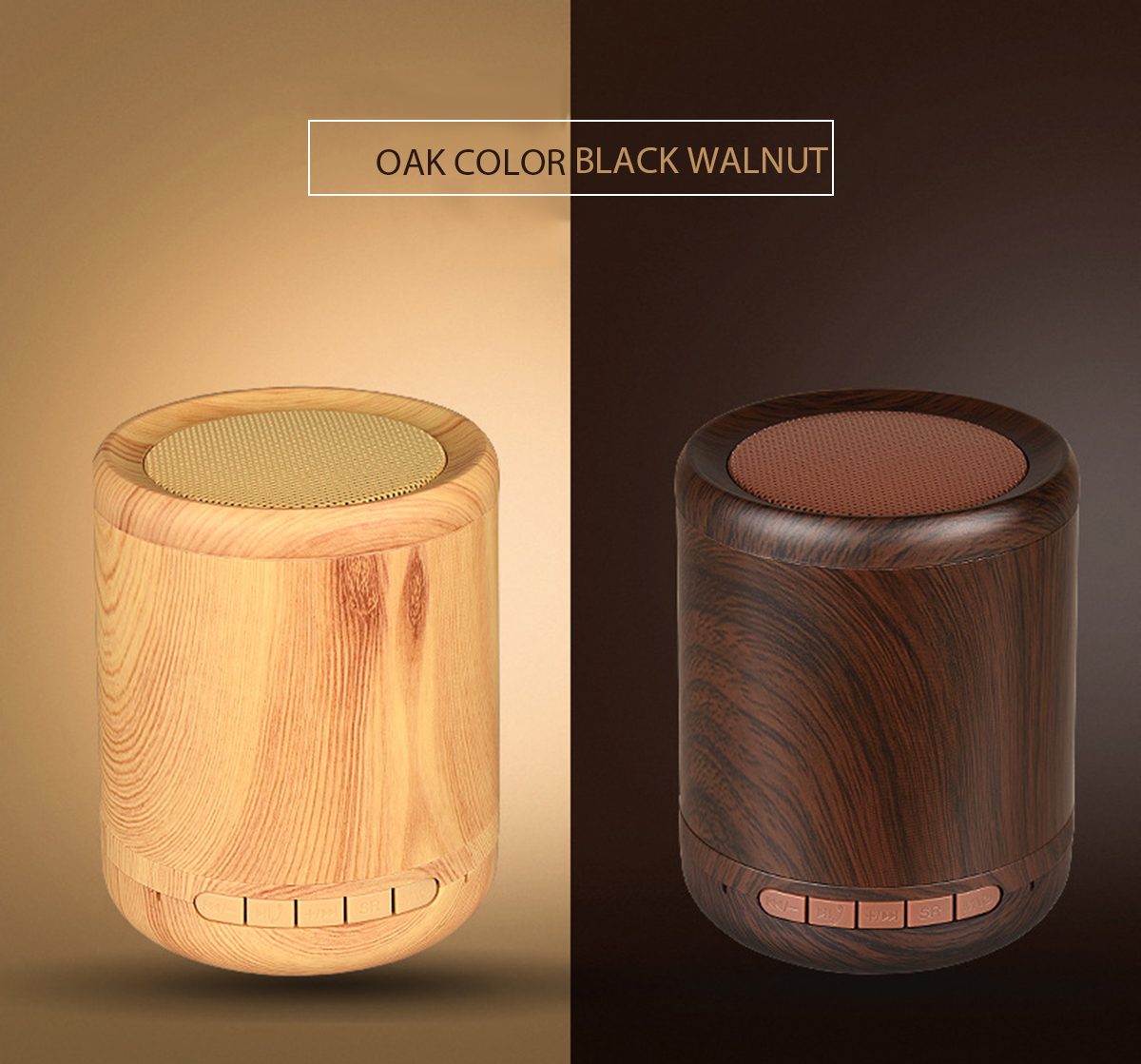 Mini Portable Wireless Bluetooth Speaker Wooden 3D Stereo TF Card Hands Free Aux-in Subwoofer 39