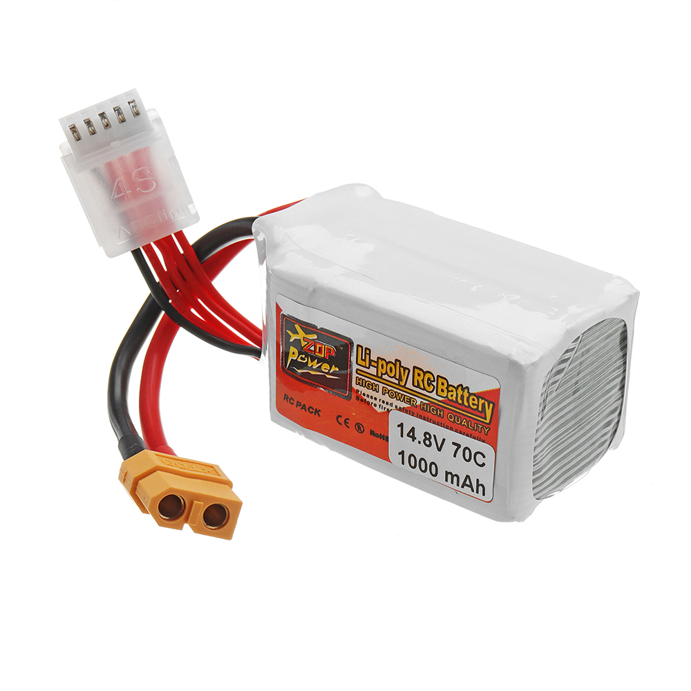 ZOP POWER 14.8V 1000mAh 70C 4S Lipo Battery With XT60 Plug For RC FPV Racing - Photo: 2