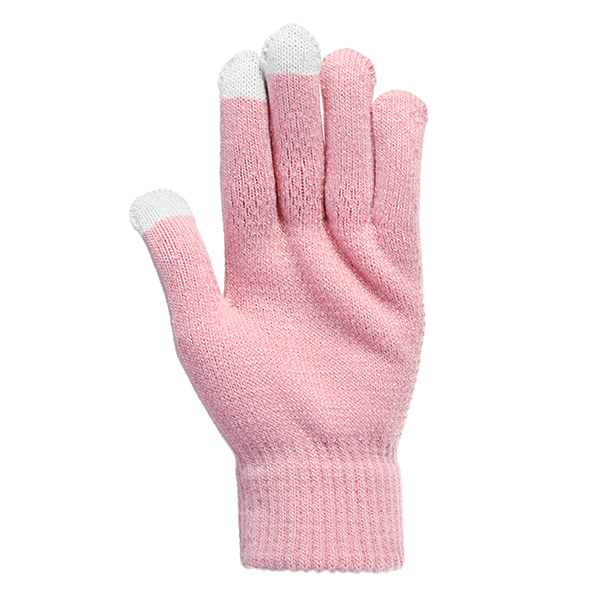 Women Touch Screen Mobile Phone Click Weave Wool Gloves Magic Hand Wrist Warmer