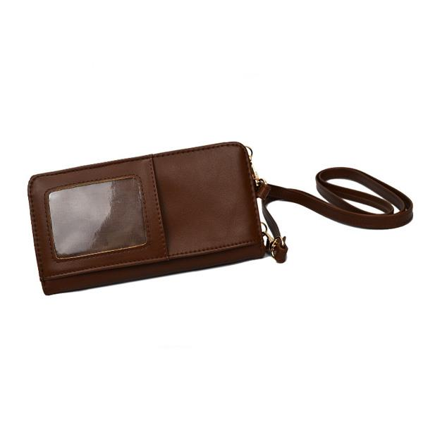 Men Women Mobile Phone Bags Pu Leather Casual Wallet Women Cluth Bag