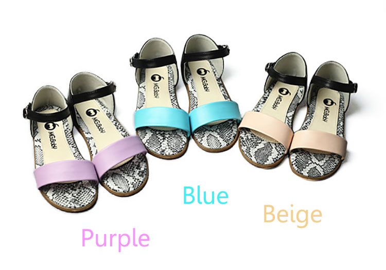 Girls Fish Mouth Summer Sandals Children Candy Color Open Toe Leather Flats Beach Shoes Kids Causal