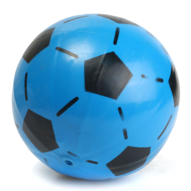 Football 15cm Random Color PVC Inflatable Soccer Indoor Outdoor Toy For Children Kids Game Gift