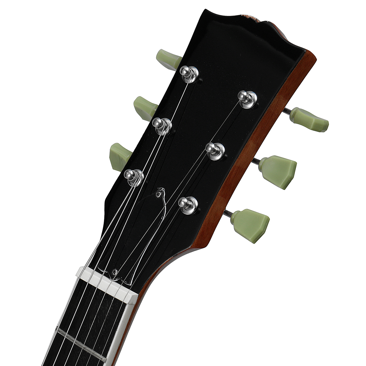 22 Frets 4 Types LP Style Electric Guitar Solid Mahogany Wood Body Flamed Maple Top Music Instrument