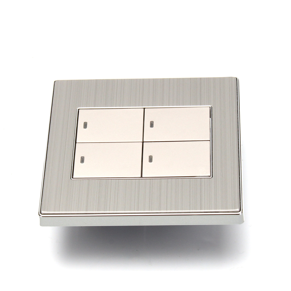 86 Type PC220-250V 4 Buttons Wall Socket Switch Single Control Dual Control Optional Champagne Gold