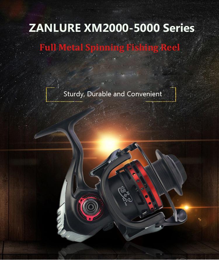 ZANLURE XM2000-5000 5.5:1 13+1BB Full Metal Spinning Fishing Reel Left Right Hand Interchange Reel