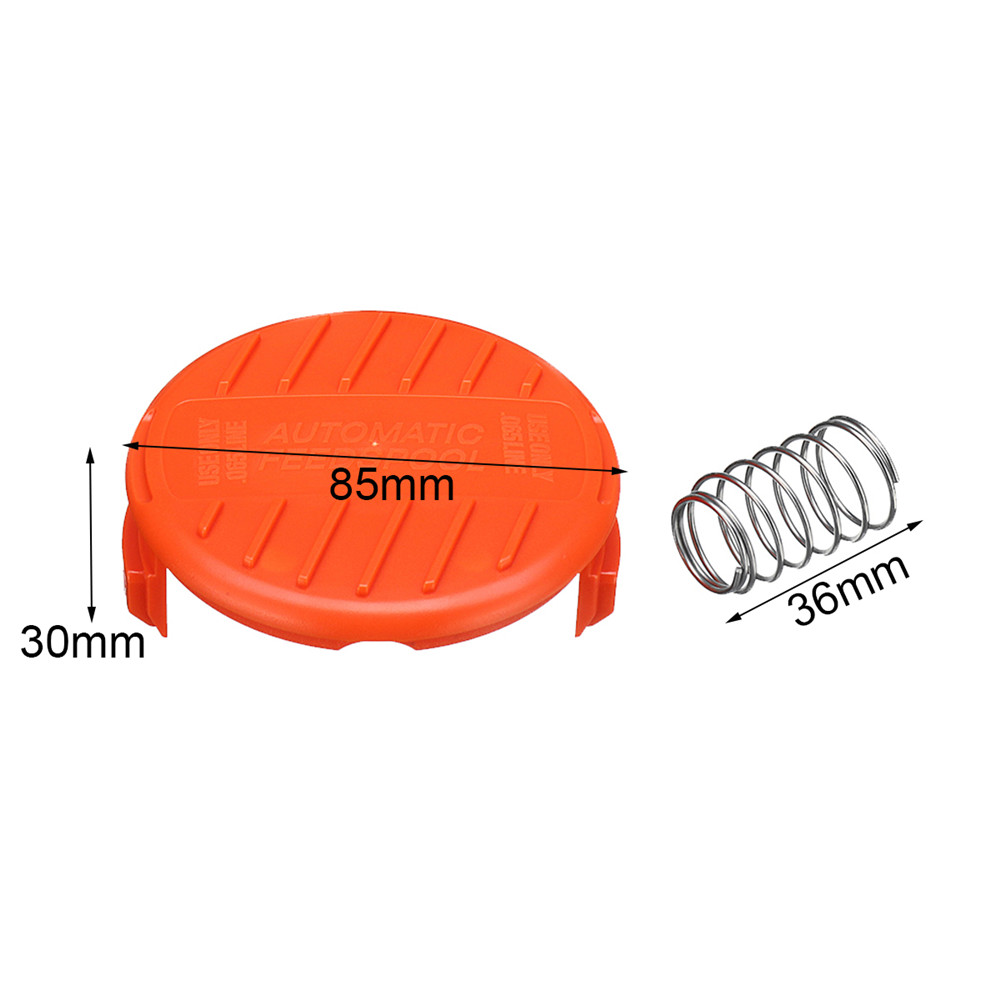 Spool Cap Covers Springs Replacement Accessories Set For Black And Decker Trimmer NST2018 NST1118