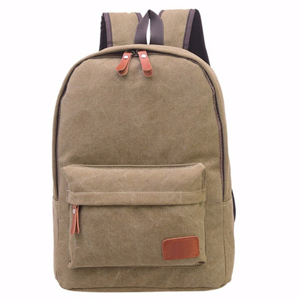 Women Canvas Backpack Girls Casual School Book Bags Students Laptop Satchel