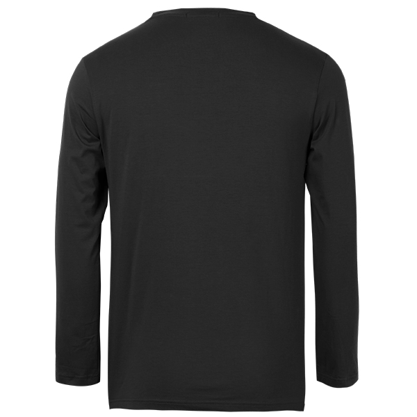 Men Long Sleeve Spring V-Neck Solid Color Slim Cotton Casual T-Shirts