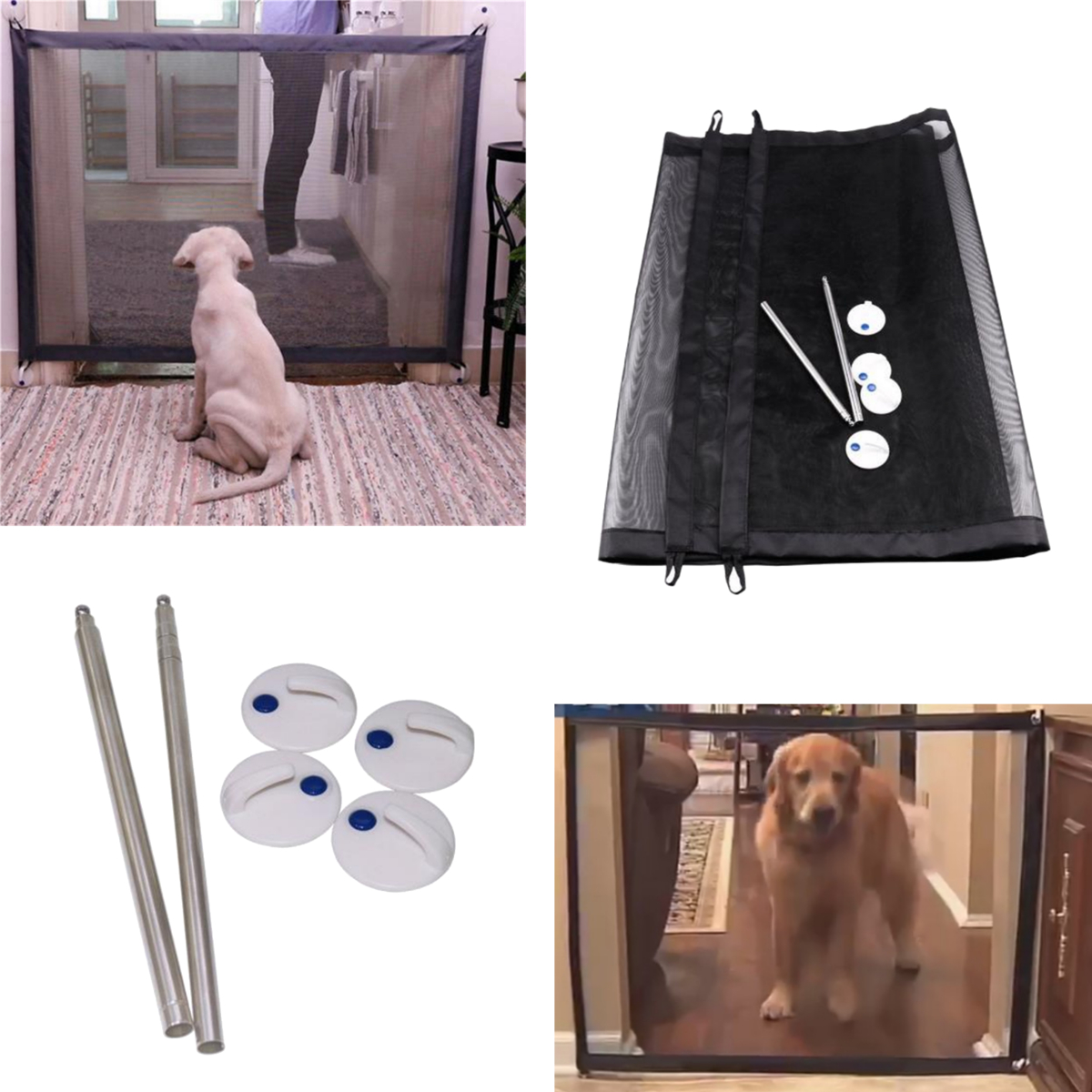 Pet Hunting Dog Isolation Net Folder Pet Isolation Bar