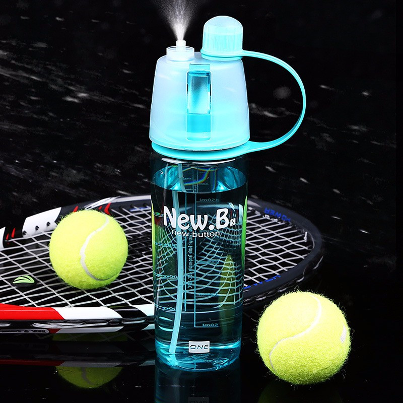 BIKIGHT Spray Sport Water Bottle Portable Outdoor Climbing Cycling Cooling Spray Cup