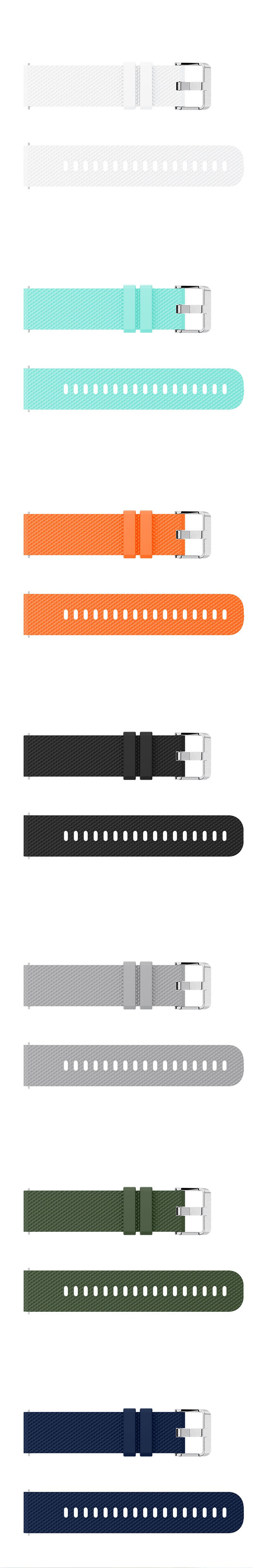 Colorful Silicone 20mm Watch Band Soft Wristband Replacement For Garmin Vivoactive3 Vivomove HR