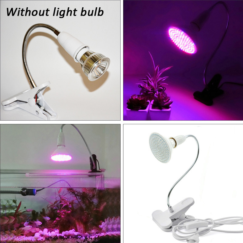 40CM E27 EU US Plug Double Heads Clip With Switch Extension Bulb Holder Socket for LED Grow Light