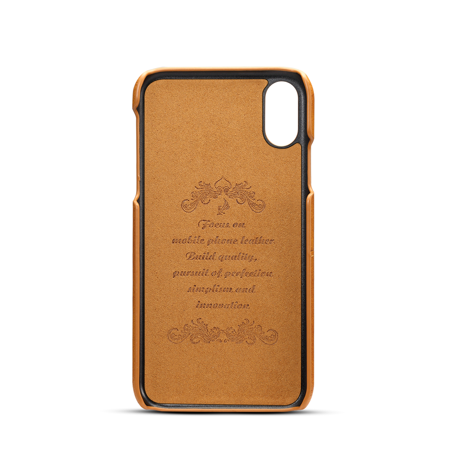 Premium Cowhide Leather Card Slot Protective Case For iPhone XR
