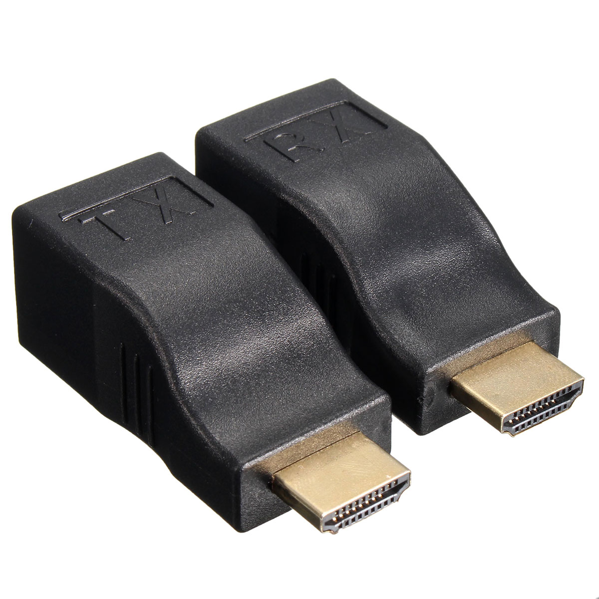 2Pcs HD to RJ45 Network Lan Ethernet Cable Extender Over by Cat 5e/6 HD 1080P 3D